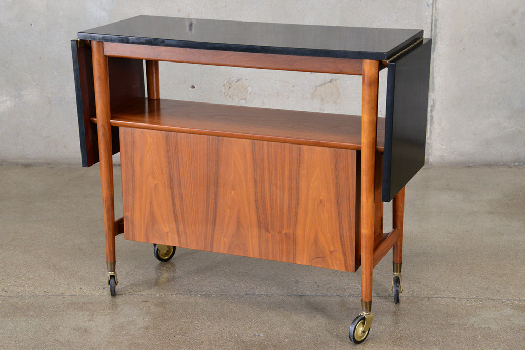 Walnut Serving Cart by Henredon Heritage