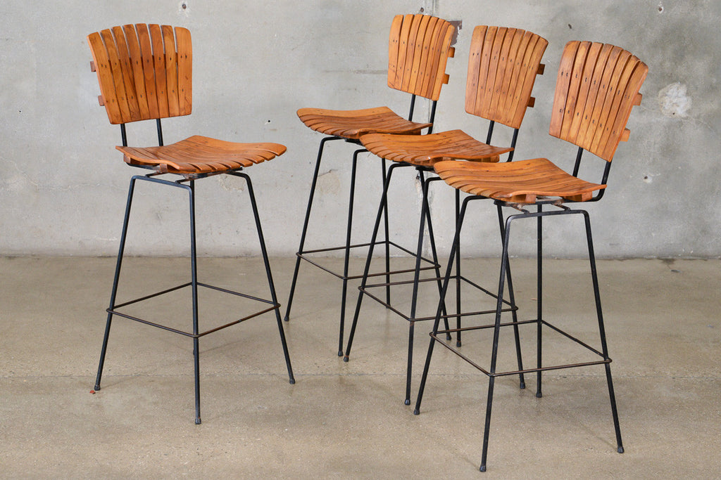 Set of Four Arthur Umanoff Bar Stools