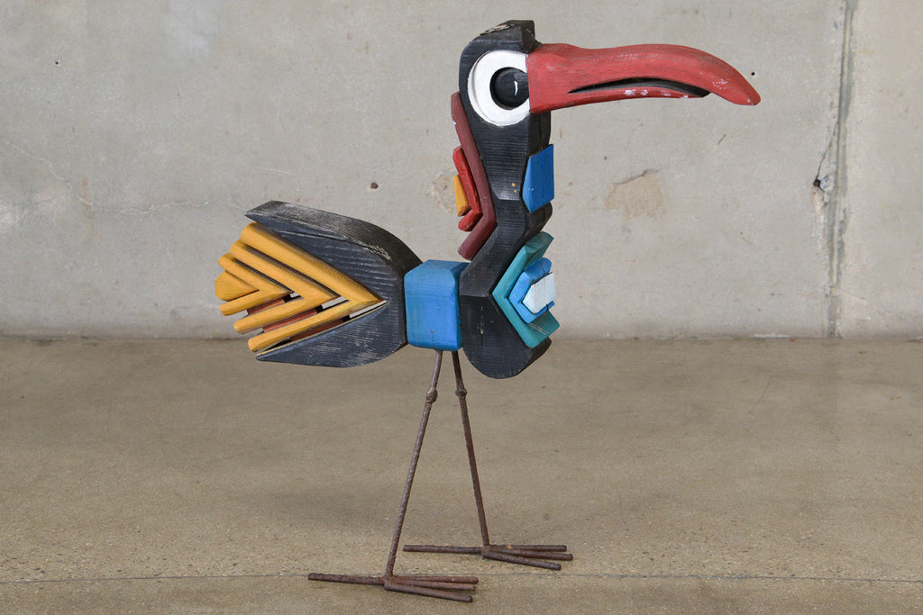Carved and Painted Wood Bird by George Mullen