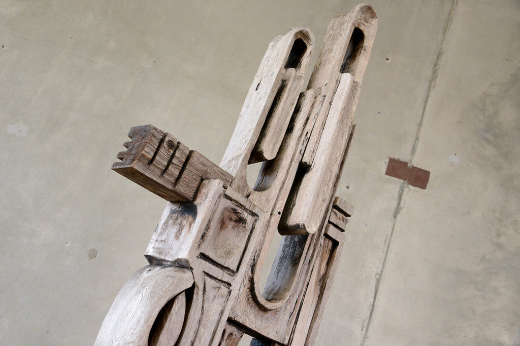 Large Carved Wood Assemblage by George Mullen