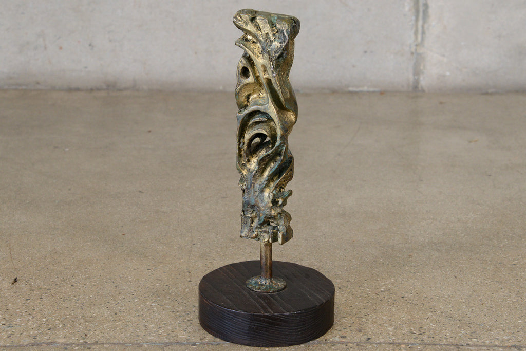 Small Bronze Brutalist Sculpture by George Mullen