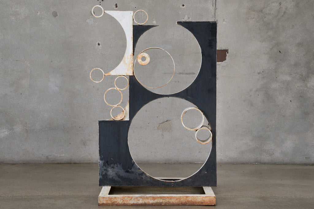 'Bubbles' - Painted steel sculpture by George Mullen
