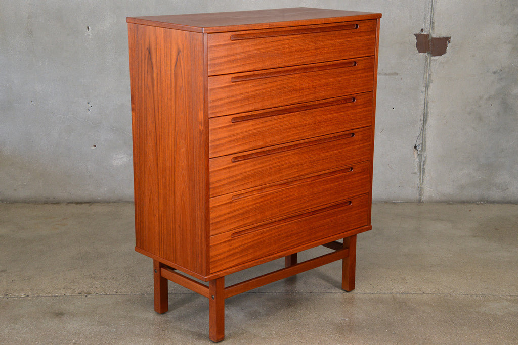 Teak Highboy Dresser by Nils Jonsson for HJN Mobler