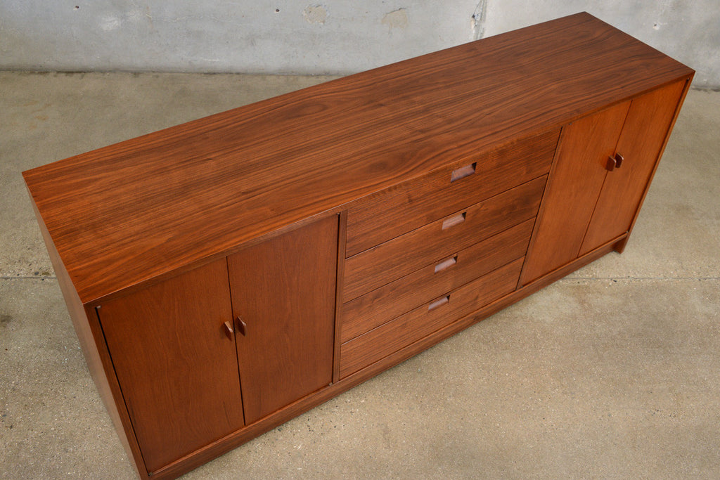 Vintage Walnut and Teak Credenza