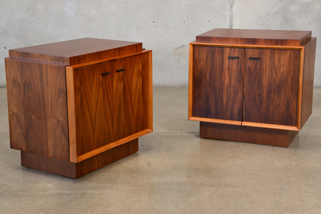 Pair of Walnut Nightstands