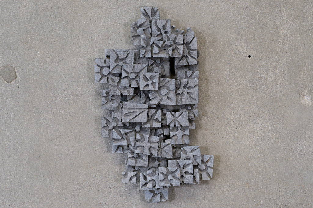 Aluminum Brutalist Wall Art Piece