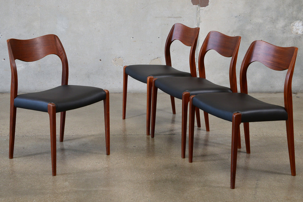 Set of Four Niels Moller Model 71 Dining Chairs