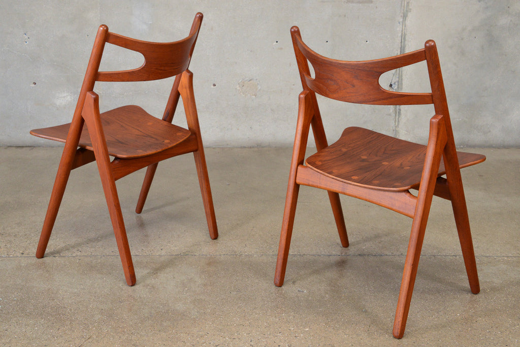 Pair of Hans Wegner CH29 'Sawbuck' Chairs