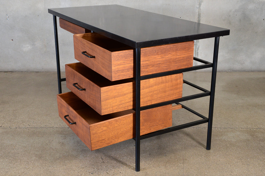 Vista of CA Painted Steel and Mahogany Desk