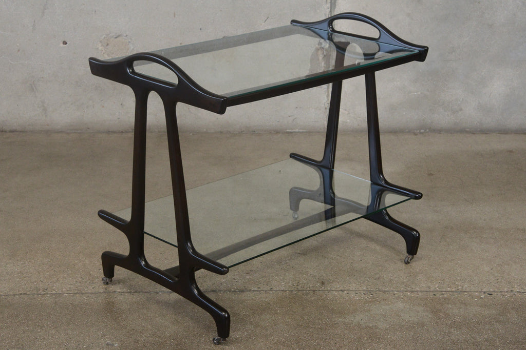 Sculptural Italian Bar Cart
