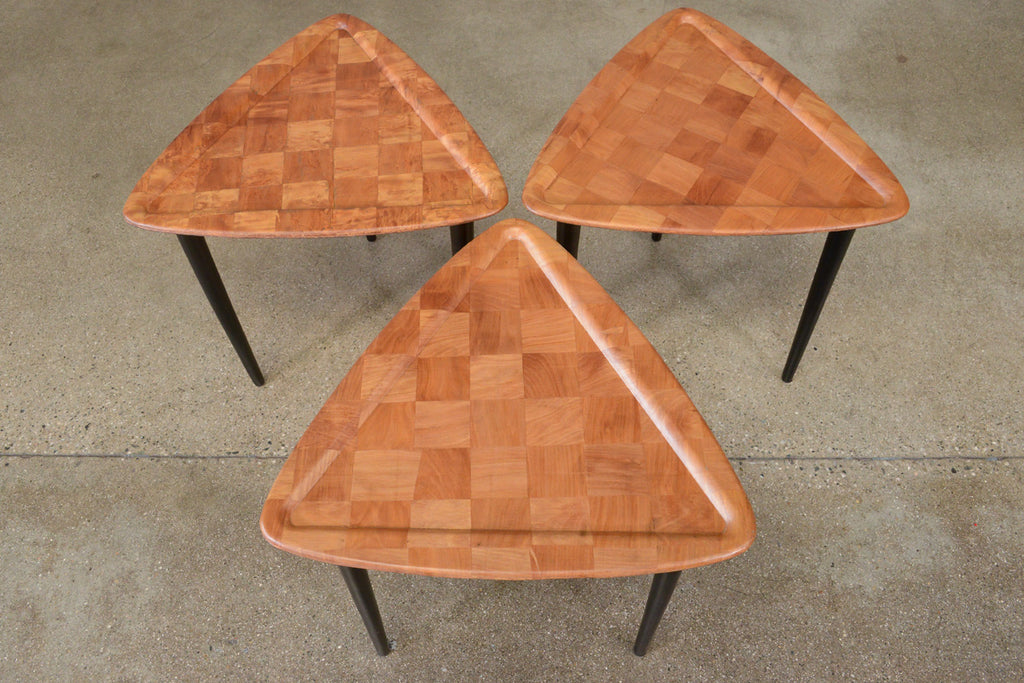 Set of Three Triangular Stacking Tables