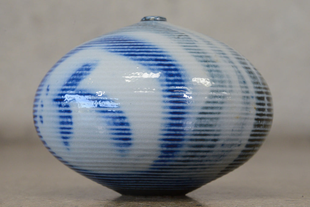 Vivika and Otto Heino Blue and Gray Glazed Weedpot