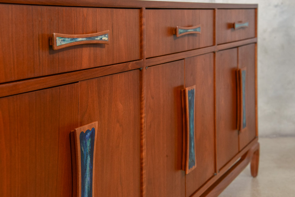 Walnut Credenza by Cal Mode