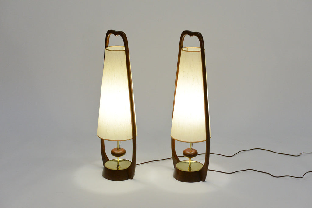 Pair of Sculptural Table Lamps by Modeline