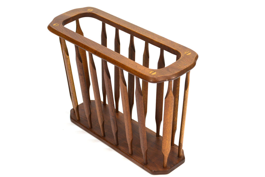 Drexel Declaration Walnut Magazine Rack