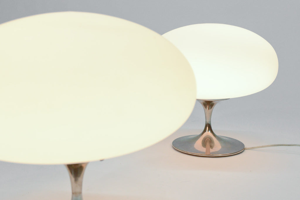 Pair of Chrome Tulip Lamps by Laurel