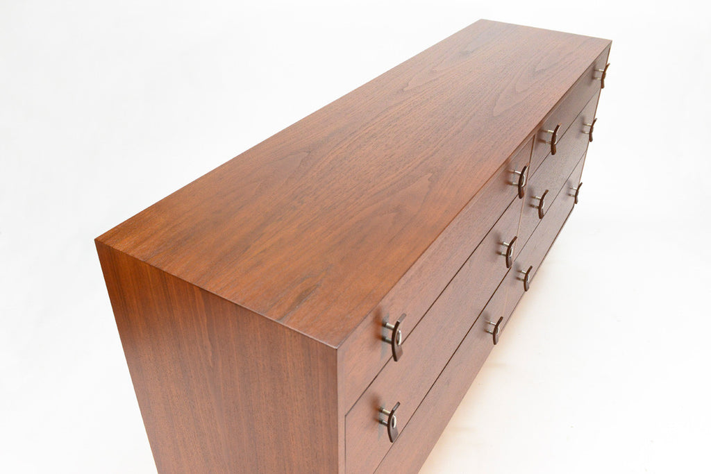 Six Drawer Walnut Dresser by Stanley Young for Glenn of California