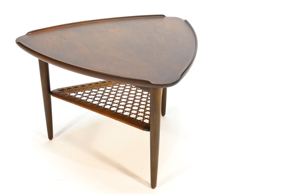 Triangular Walnut Side Table by Poul Jensen for Selig