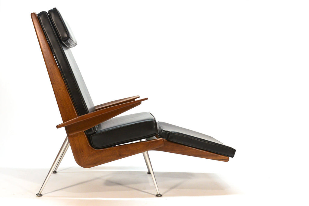 Exceptional Pair of Boomerang Lounge Chairs