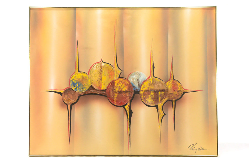 Large Scale Mid Century Abstract by Thompson