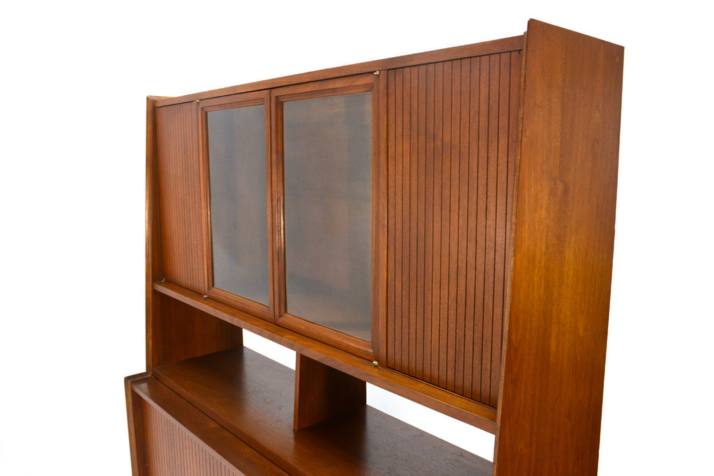 Walnut Buffet with Hutch by Cavalier