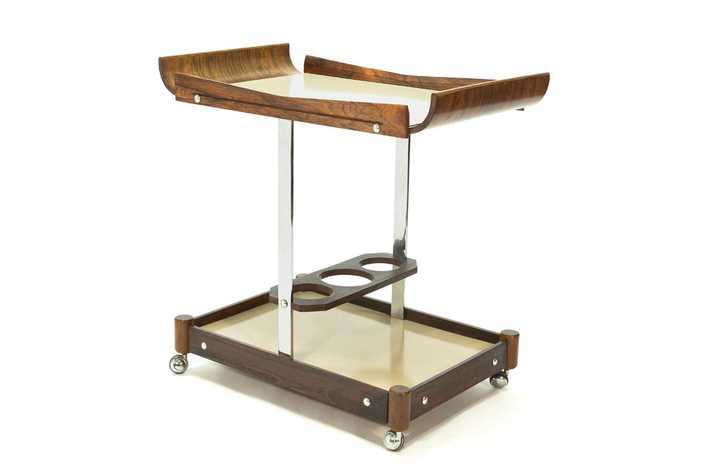 Brazilian Rosewood Bar Cart By Novo Rumo