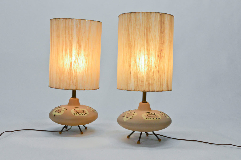pair of 1950's Ceramic Table Lamps
