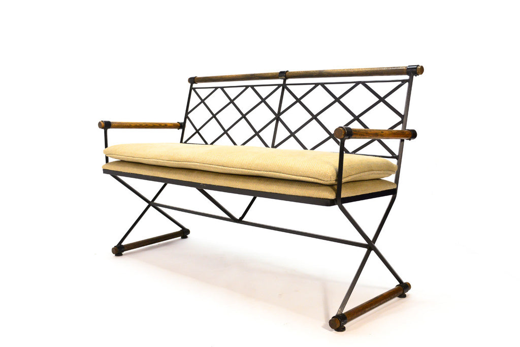 Oak and Iron Bench by Cleo Baldon for Terra