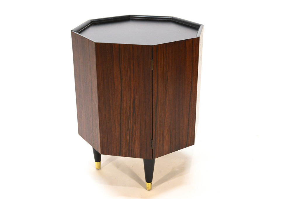 Octagonal Rosewood Storage Side Table