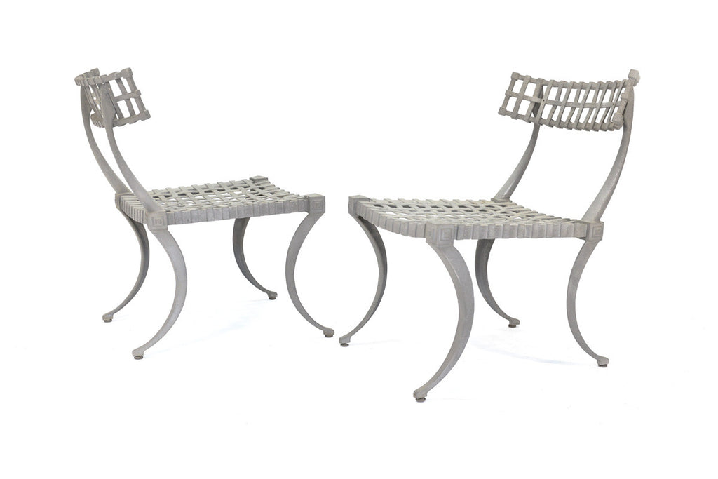 Set of Four Thinline Klismos Chairs