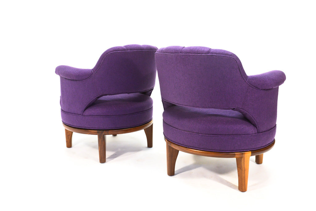 Pair of Swivel Club Chairs by Maurice Bailey for Monteverdi Young