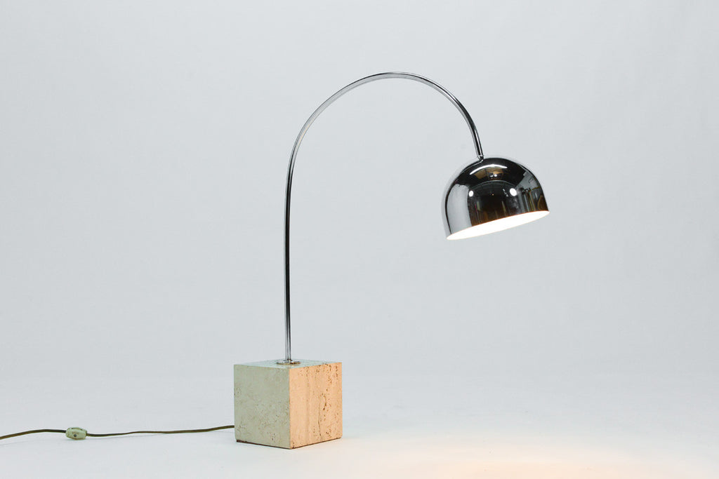 Small Italian Arc Lamp by Harvey Guzzini