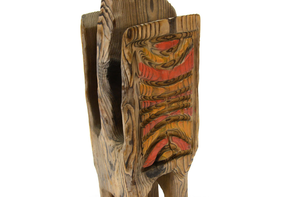 Witco Carved Zebra Magazine Stand