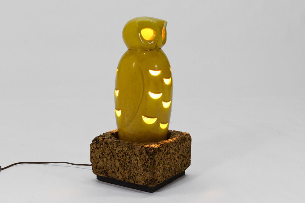 Vintage Ceramic Owl Lamp