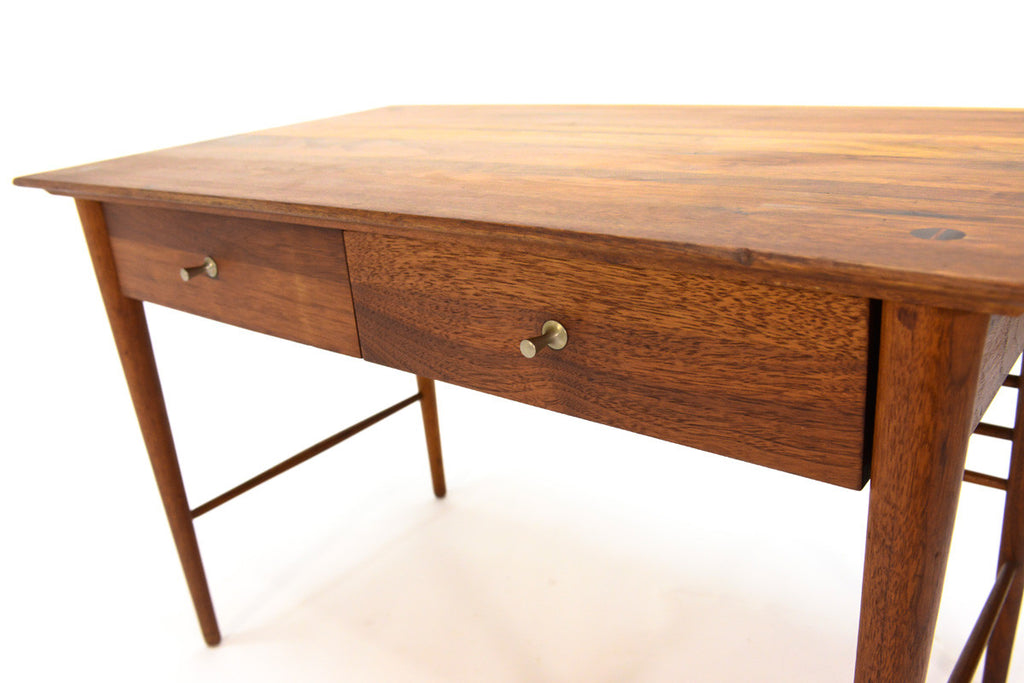 Solid Walnut Two Drawer Side Table