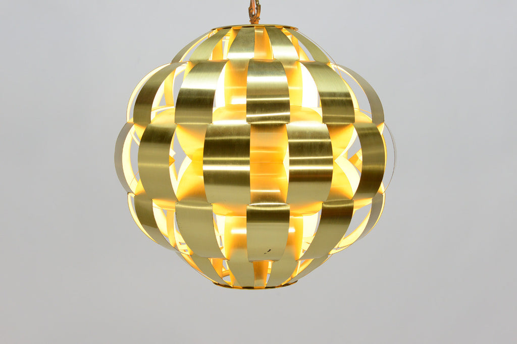 Brass Ribbon Pendant by Lightolier