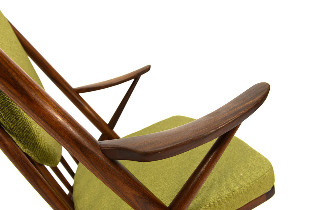 Danish Teak Rocking Chair by Frank Reenskaug for Bramin