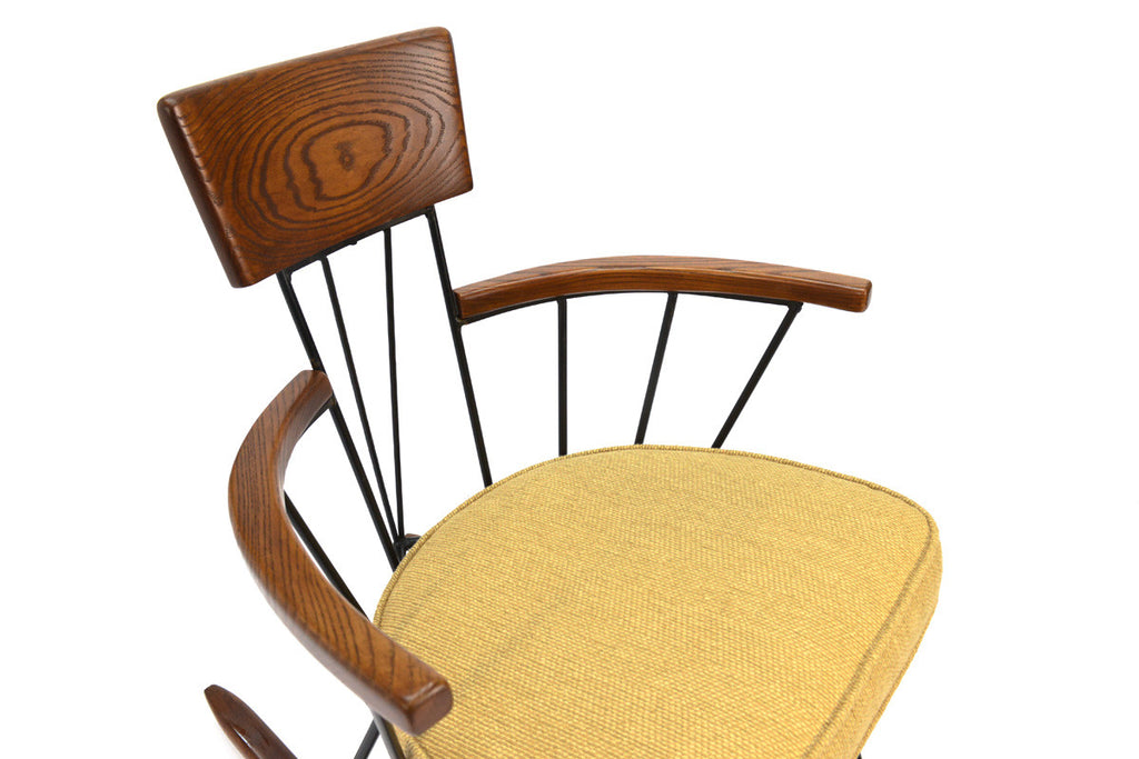 Iron and Oak Rocking Chair by Richard McCarthy for Selrite