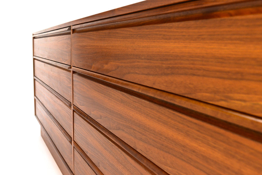 Teak Eight Drawer Dresser by Westnofa