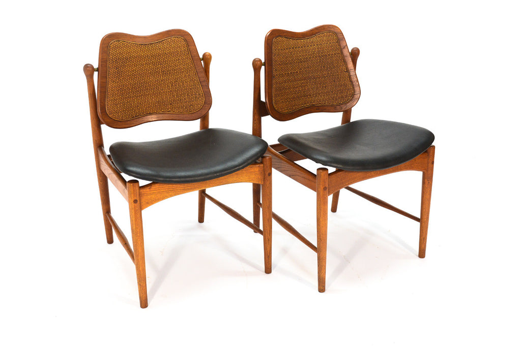 Pair of Arne Vodder Swivel Back Chairs