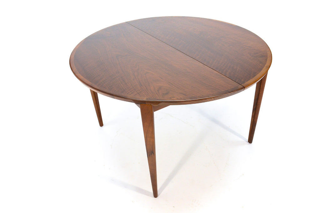 Round Walnut Dining Table by Rosengren Hansen