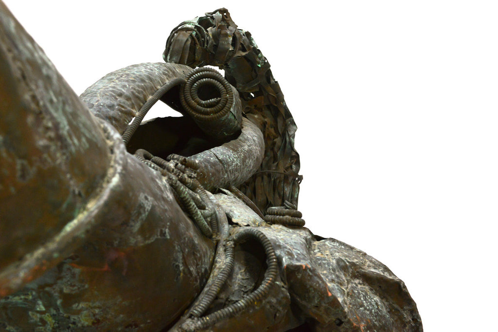 Monumental Copper Brutalist Sculpture - 'Chanticleer' by Fred Holschuh