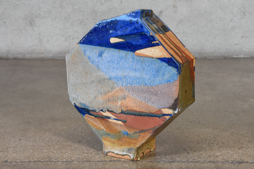 Large Geometric Vase by Tina Hall