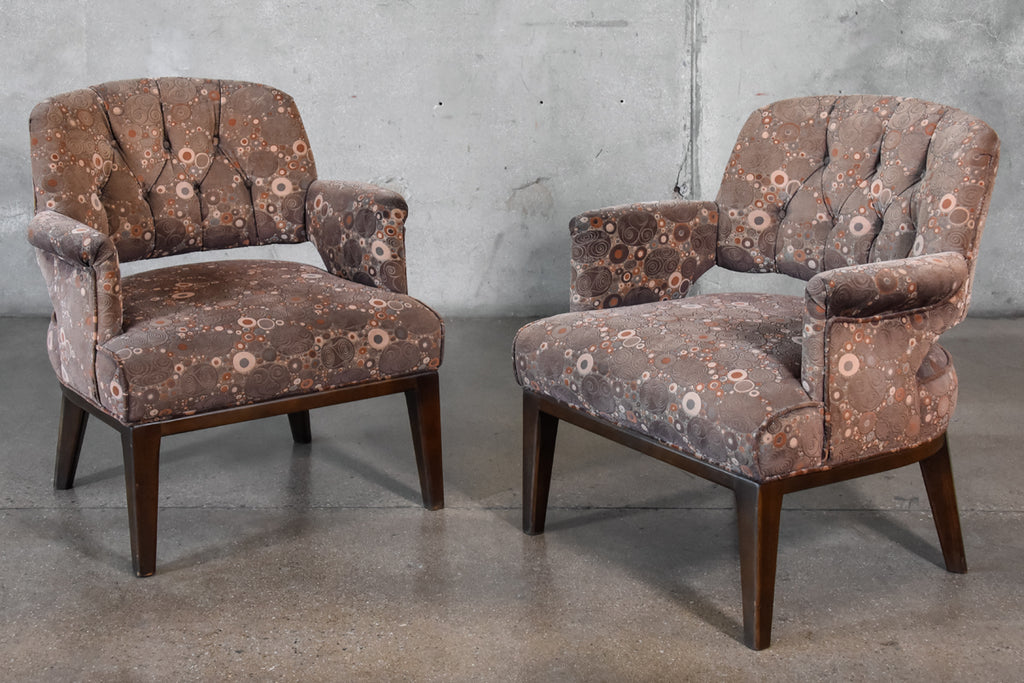 Pair of Petite Lounge Chairs by Maurice Bailey for Monteverdi Young