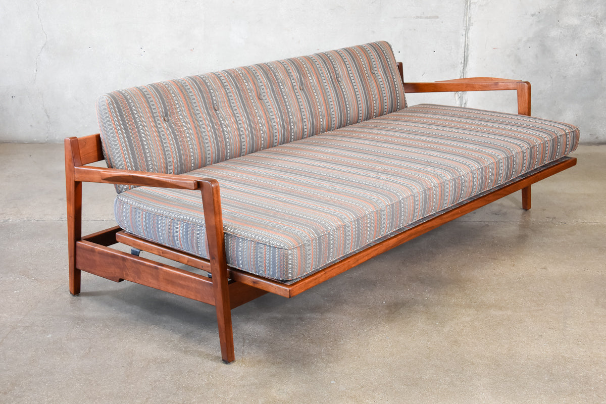 Rare Walnut Daybed by Jens Risom