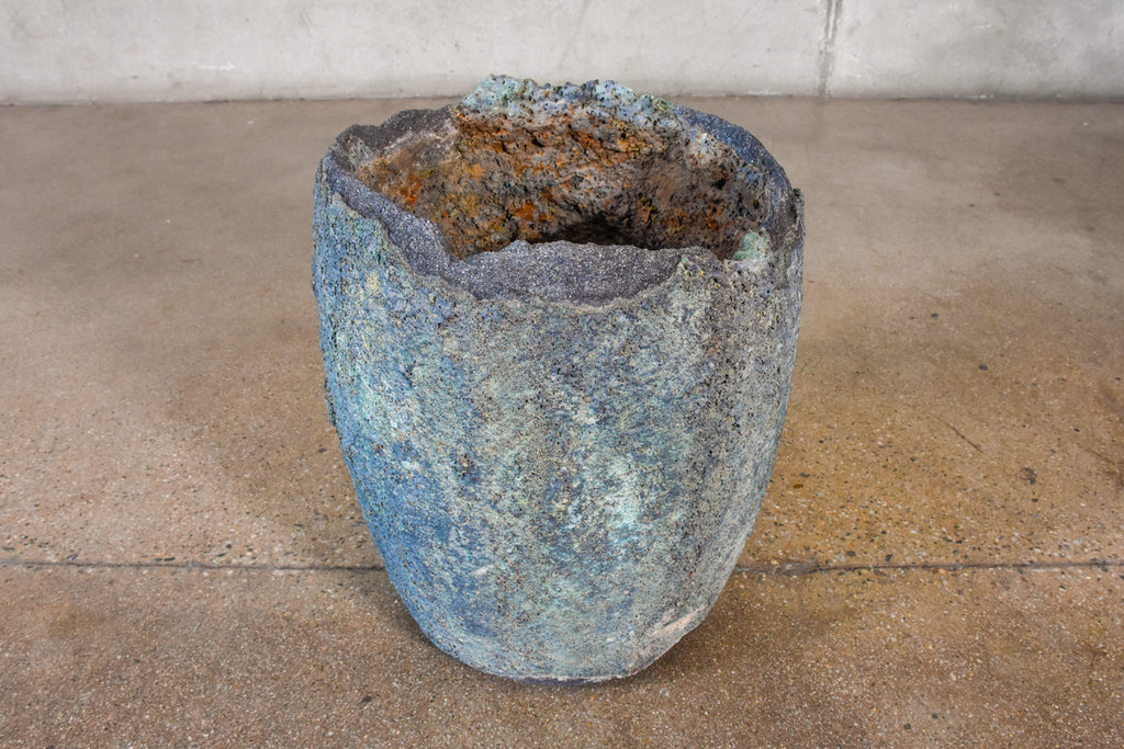 Heavily Patinated Foundry Smelting Crucible