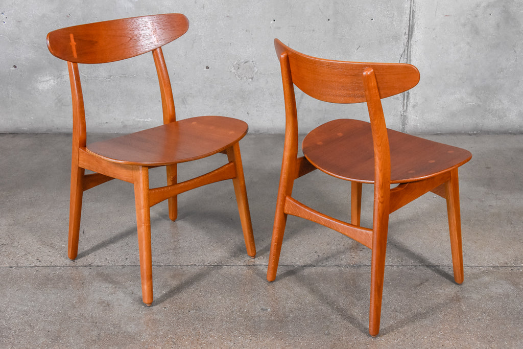 Set of Eight Hans Wegner CH-30 Dining Chairs
