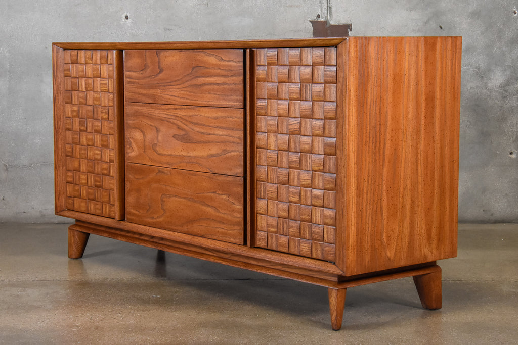 Paul Laszlo 'Basketweave' Credenza for Brown Saltman