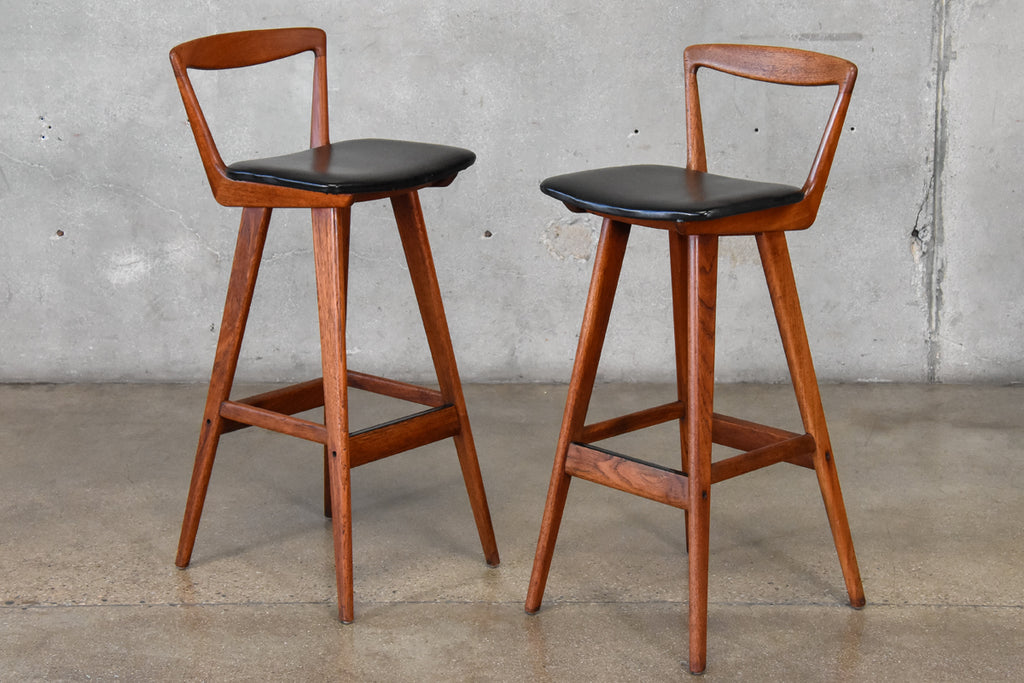 Pair of Teak Barstools by Rosengren Hansen