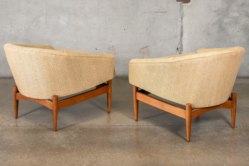 Pair of Lawrence Peabody Lounge Chairs